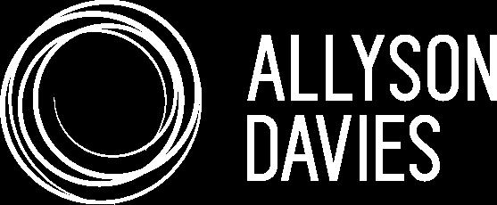 Allyson Davies Logo Design - White
