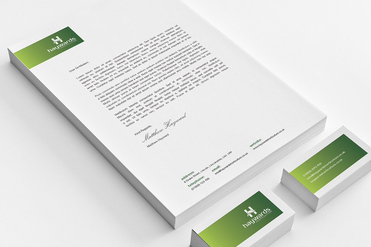 Haywards Horticulture Branded Stationery