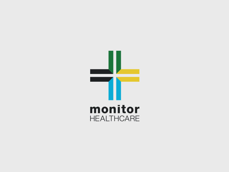 Monitor Healthcare Logo Design