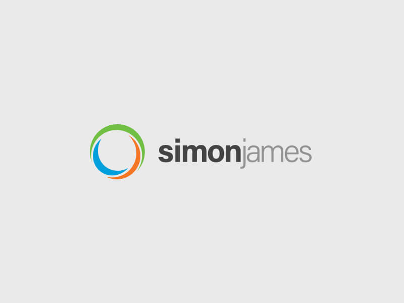 Simon James Logo Design - Colour