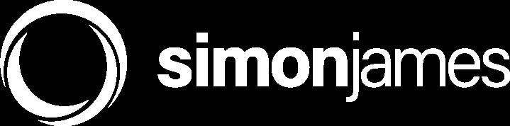 Simon James Logo Design - White