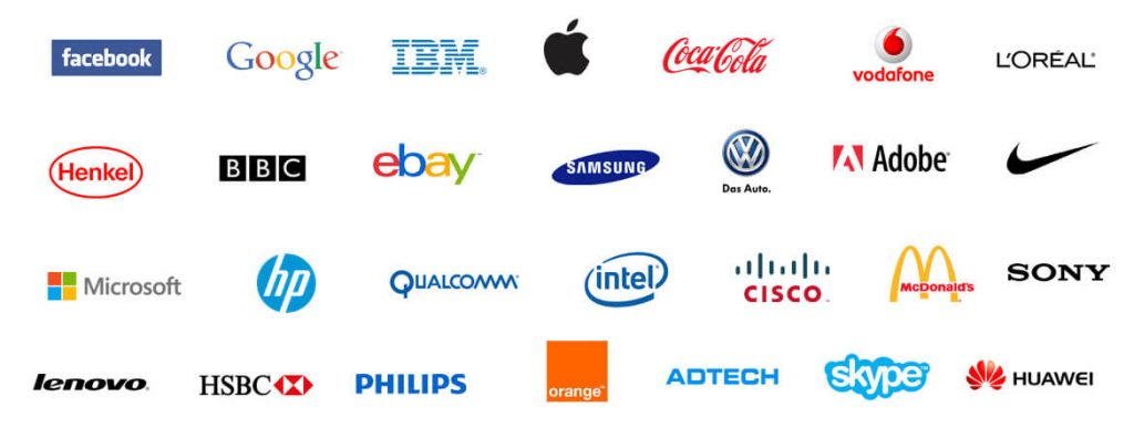 Simplicity of famous logos