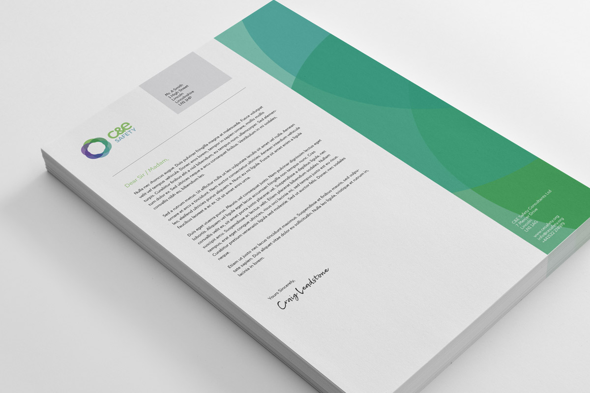 C&E Safety Letterhead Design