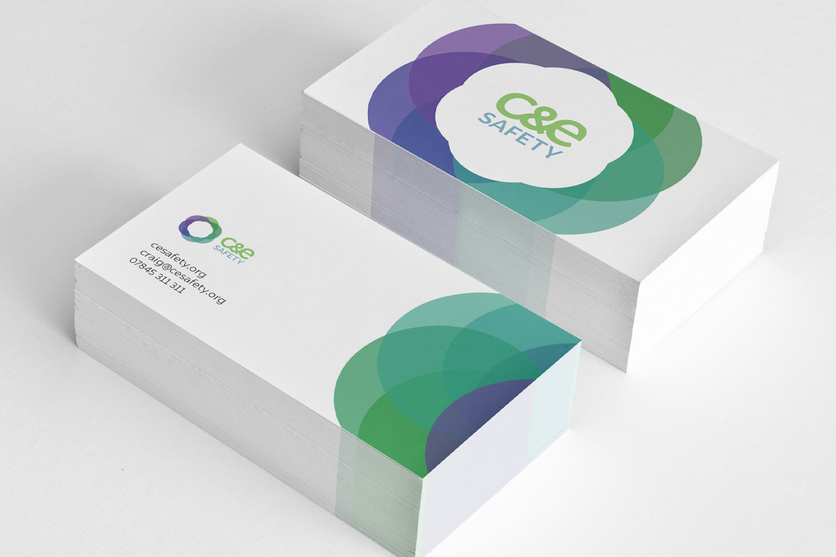 C&E Safety Business Card Design