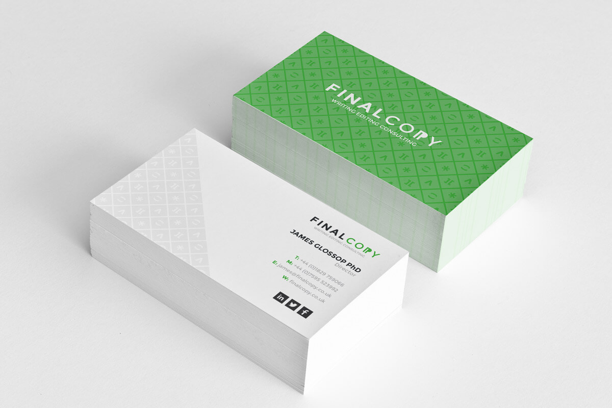 Final Copy business card design