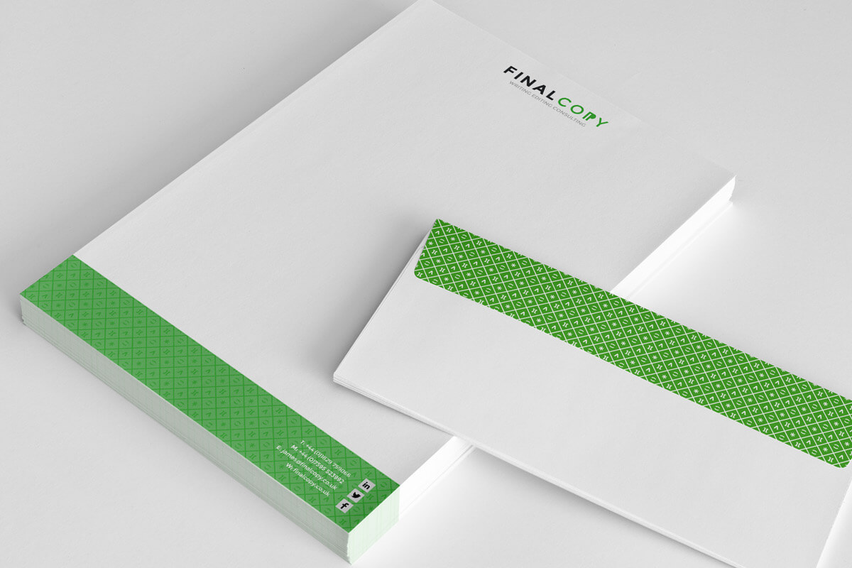 Final Copy letterhead stationery design