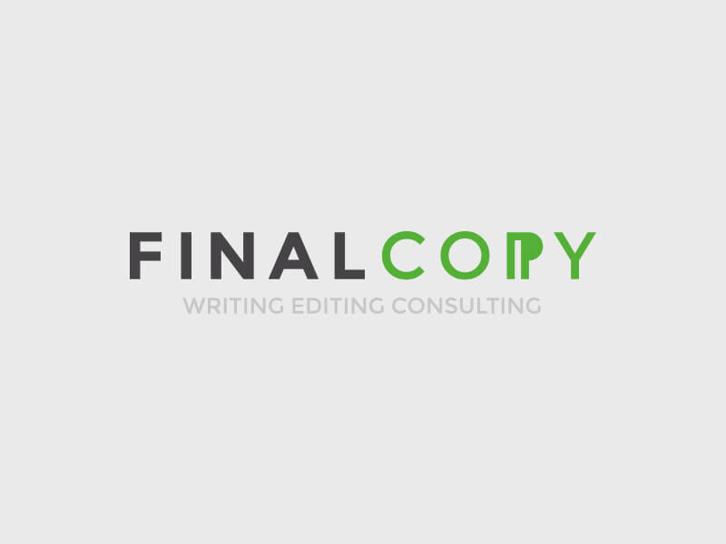 Final Copy logo design colour