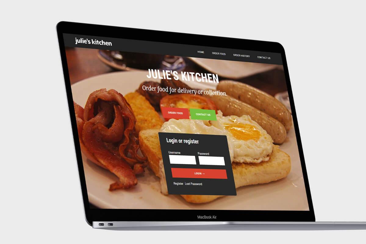 Julie's Kitchen Website Design - Desktop