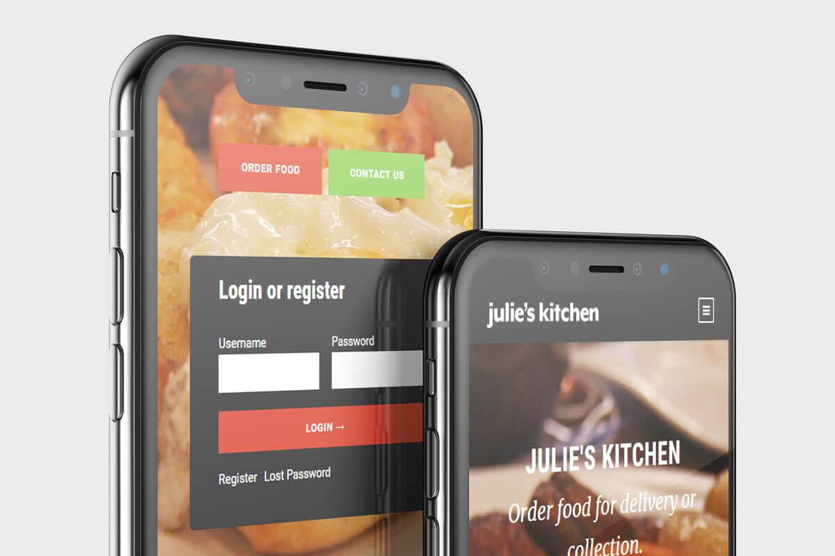 Julie's Kitchen Website Design - Mobile