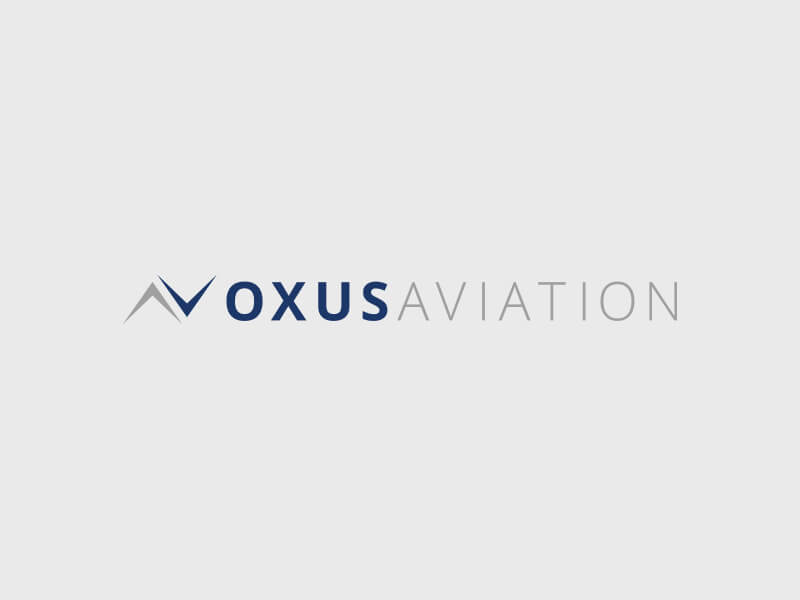 Oxus Aviation Logo Design - Colour