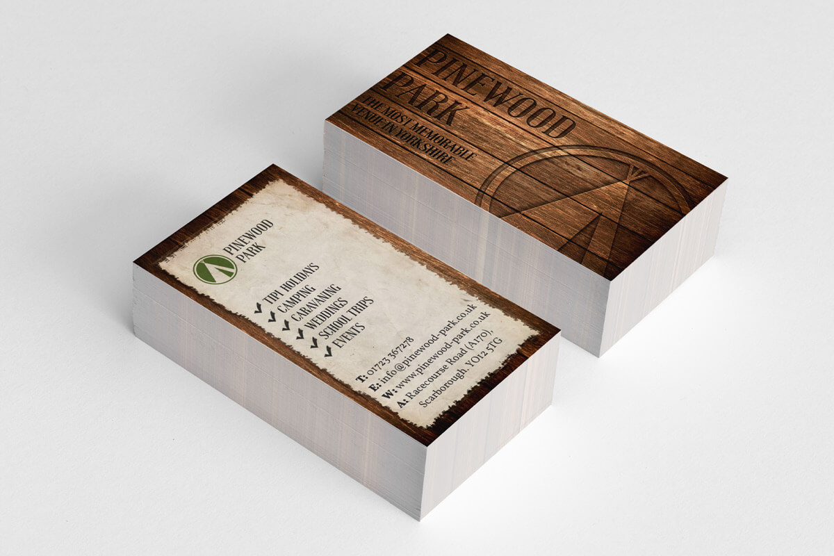 Pinewood Park Business Card Design