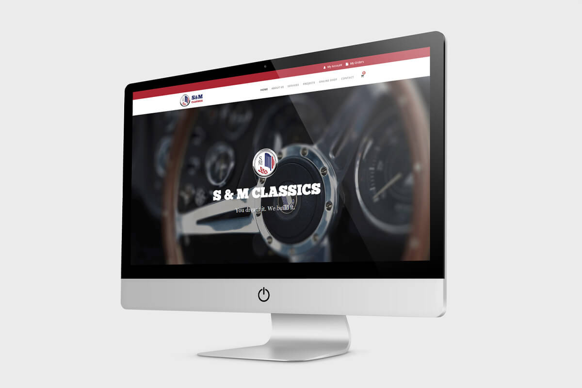 S&M Classics Website Design - Desktop