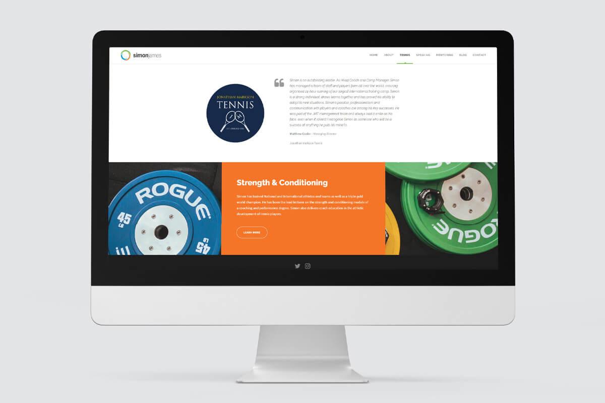 Simon James Website Design - Desktop