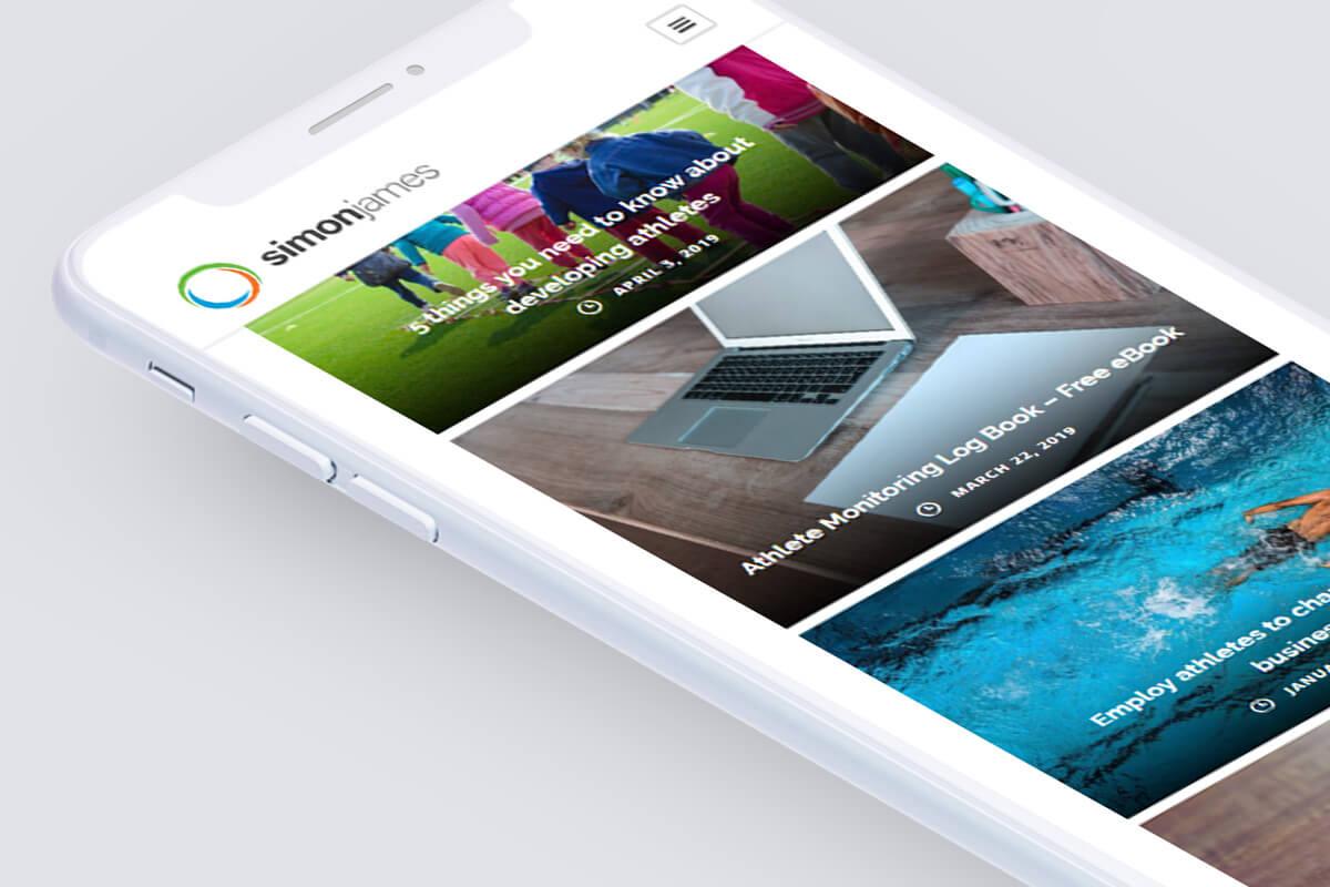 Simon James Website Design - Phone