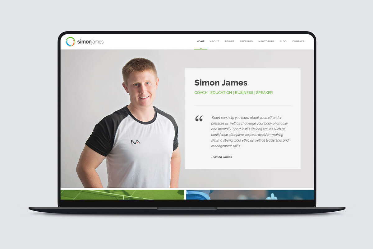 Simon James Website Design - Desktop