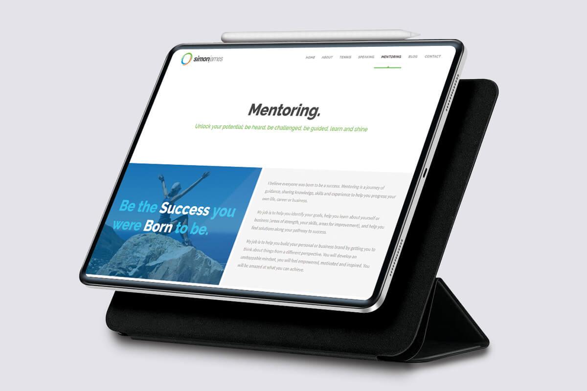 Simon James Website Design - Tablet