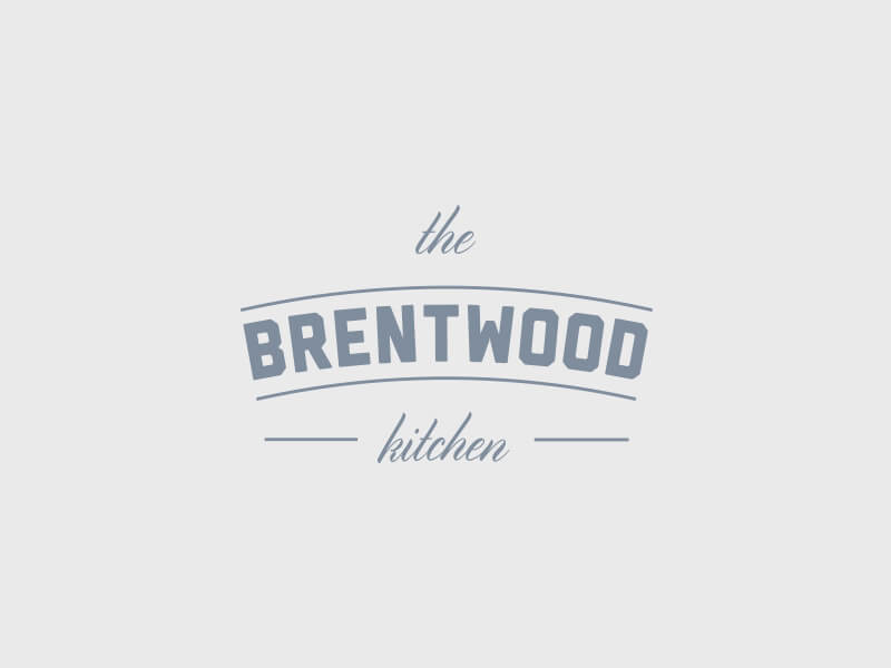 The Brentwood Kitchen Logo Design - Greyscale