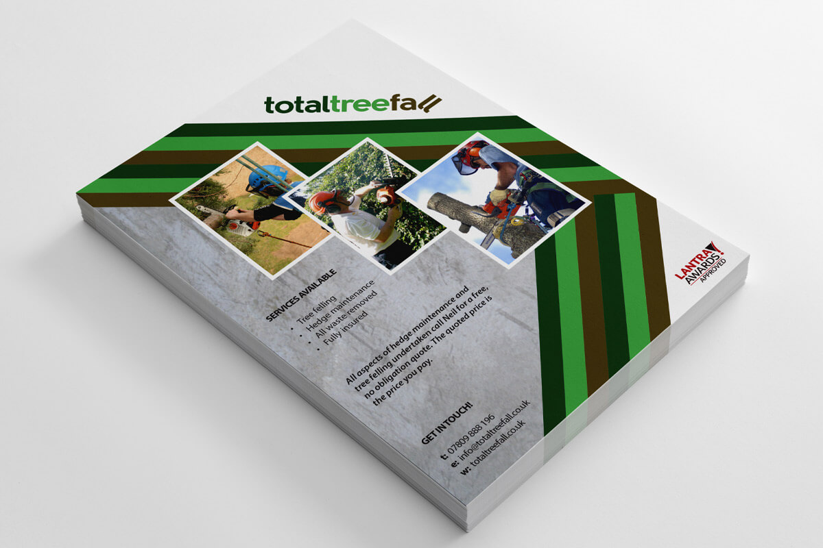 Total Tree Fall Stationery - Leaflet Design