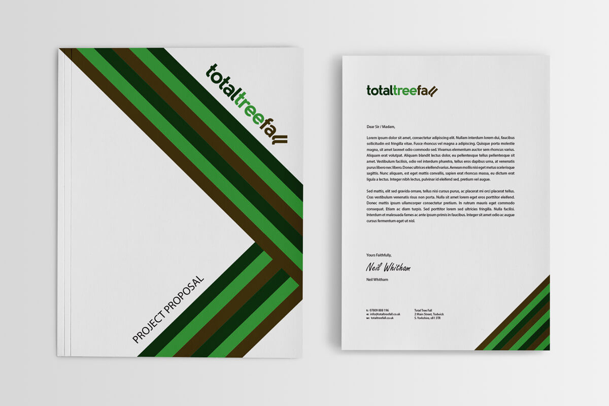 Total Tree Fall Stationery - Letterhead & Folder