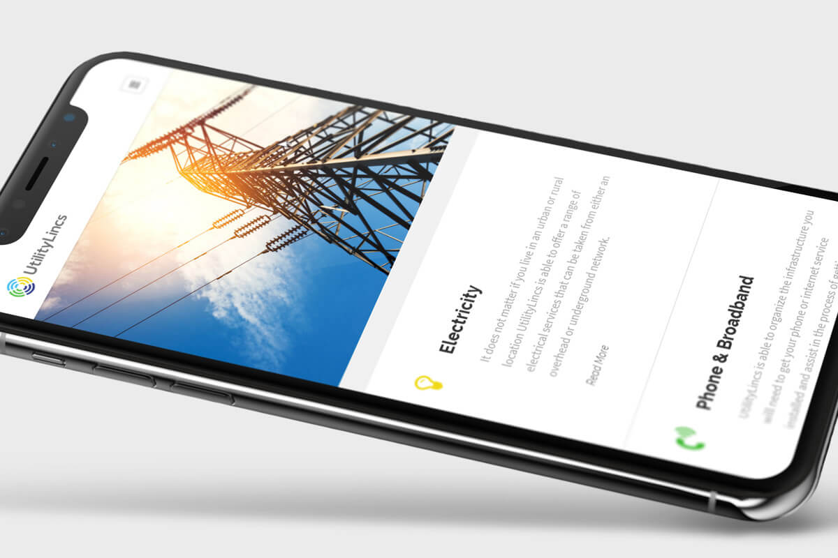 UtilityLincs Website Design - Phone