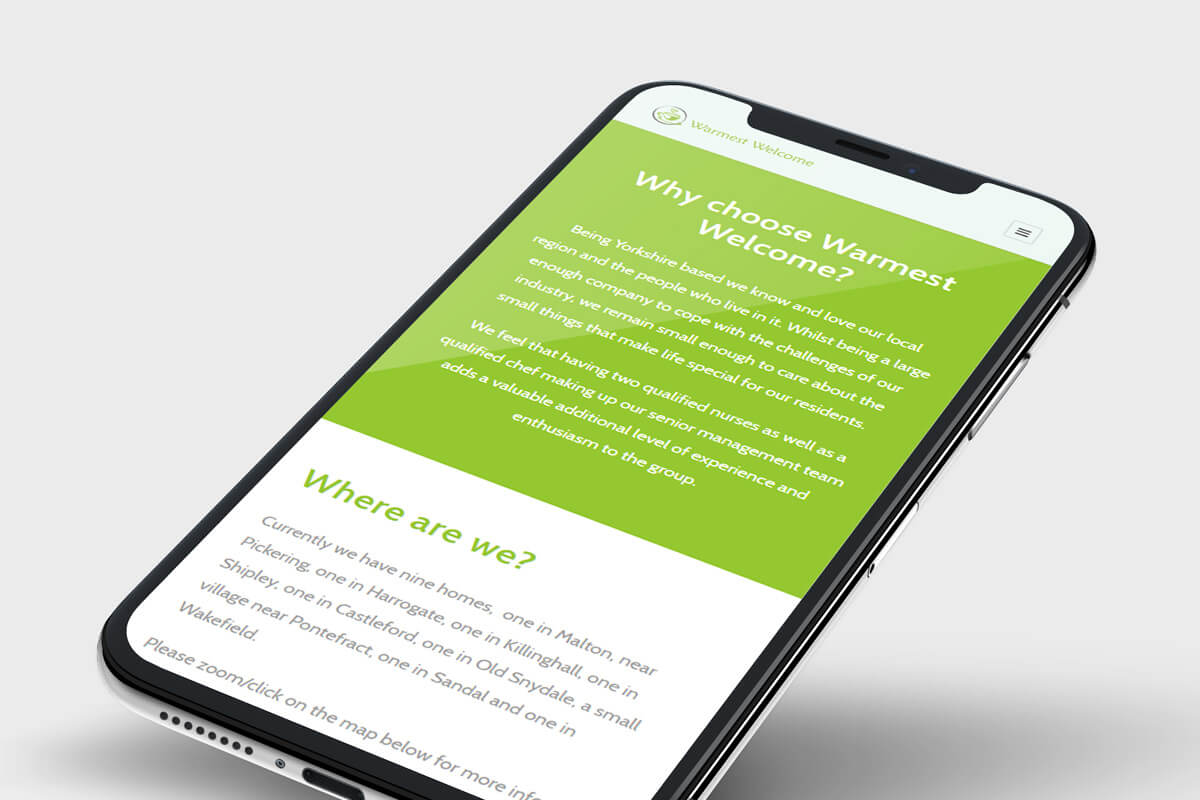 Warmest Welcome Website Design - Phone