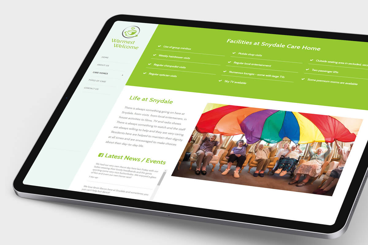 Warmest Welcome Website Design - Tablet