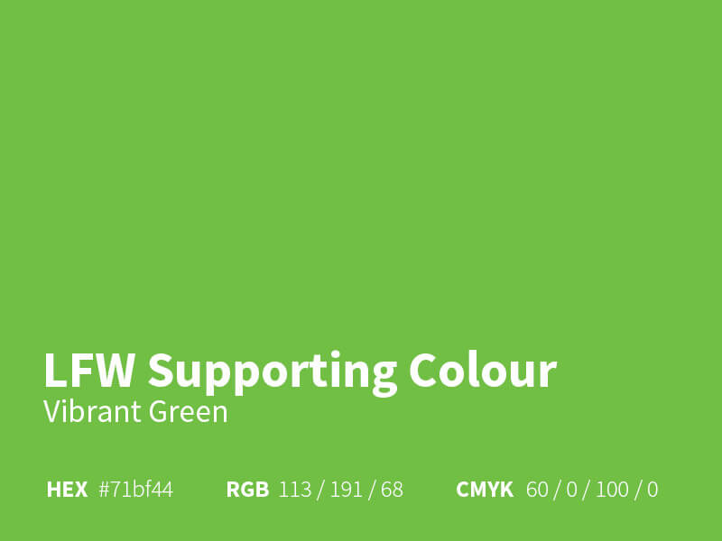 LFW Supporting Colour - Green