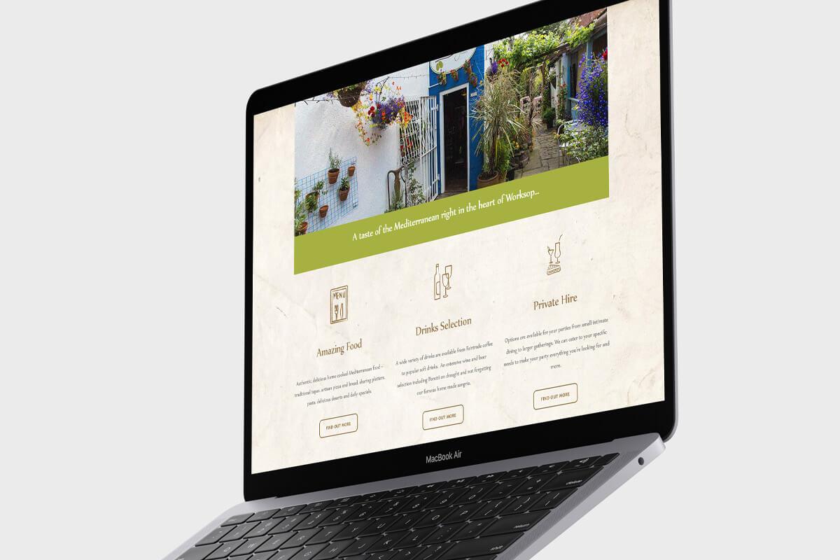 The Olive Grove Website Design - Desktop