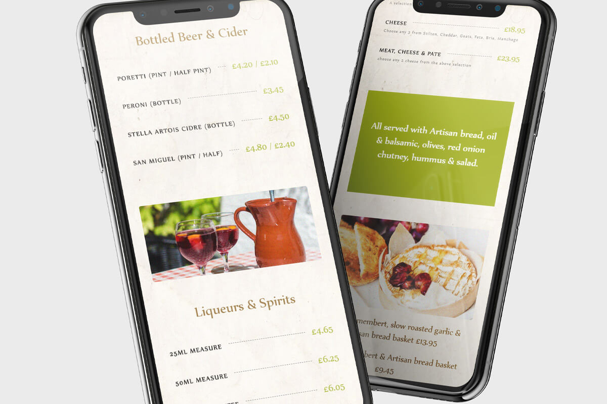 The Olive Grove Website Design - Mobile