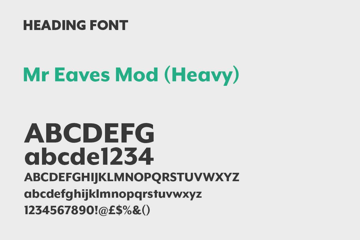 PRO Building Control - Heading Font
