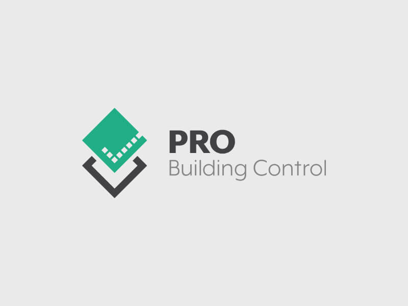 PRO Building Control Logo Design - Colour