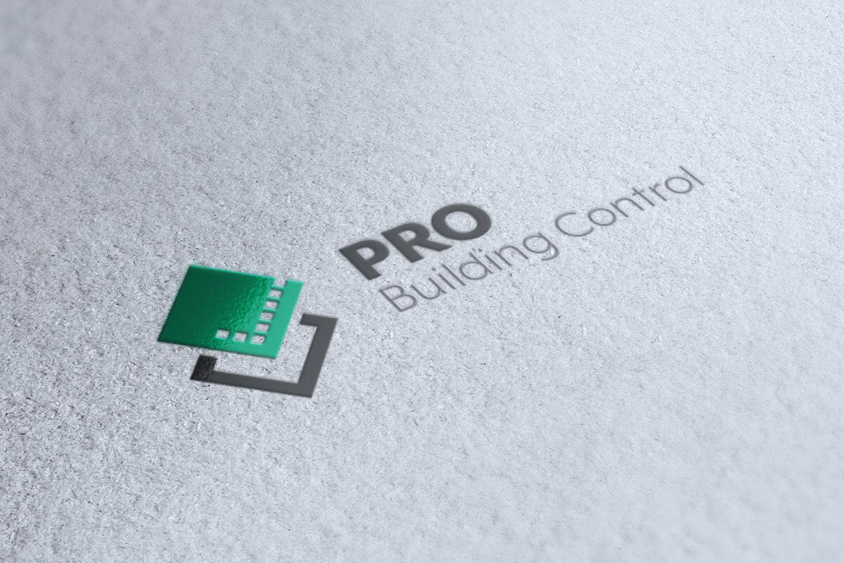 PRO Building Control - Logo Design Spot UV