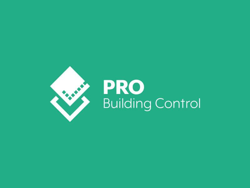 PRO Building Control Logo Design - White