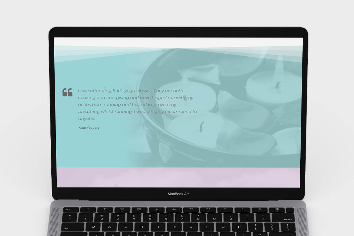 Lincolnshire Yoga Website Design
